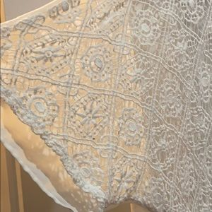 Mossimo Supply Co. Sweaters - Lace Detail high-low cardigan